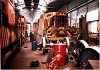 Industrial locomotives undergoing repair in the locomotive shed.<br><br>[Ewan Crawford&nbsp;//]