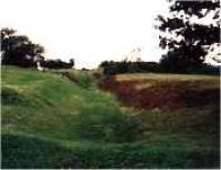 Looking west at the Castlecary Roman Fort.<br><br>[Ewan Crawford&nbsp;//]