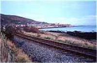 Former site of West Helmsdale station at Gartymore. View looks north towards Helmsdale.<br><br>[Ewan Crawford&nbsp;//]
