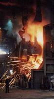 Iron being poured into a BOS vessel at the Ravenscraig Steelworks.<br><br>[Ewan Crawford&nbsp;//]
