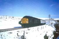 Up Waverley Route train passing Whitrope in a wintry January 1968.<br><br>[Bruce McCartney&nbsp;/01/1968]