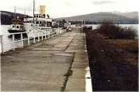Balloch Pier, looking north over Loch Lomond, track lifted.<br><br>[Ewan Crawford&nbsp;//]