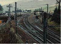 View looking north of the former Abington station towards the passing loops.<br><br>[Ewan Crawford&nbsp;//]