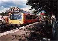 Looking east at East Kilbride station. Class 101 DMU in station.<br><br>[Ewan Crawford&nbsp;//]