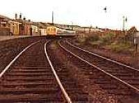Class 101 DMU tour train in Bathgate Upper station. View looks east.<br><br>[Michael Gibb&nbsp;//]