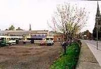 Looking east at the former Dalkeith station, now a bus depot.<br><br>[Ewan Crawford&nbsp;//]
