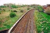 Looking east at the former Duddingston station, towards the former Duddingston Junction.<br><br>[Ewan Crawford&nbsp;//]