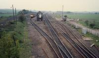 Looking west over Cadder Yard. Class 27 in sidings by signalbox.<br><br>[Ewan Crawford&nbsp;//]