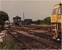 View looking west at Greenhill Upper Junction, while signalbox still stood.<br><br>[Ewan Crawford&nbsp;//]