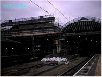York station, roof under re-construction, viewed from the north end.<br><br>[Ewan Crawford&nbsp;//]