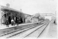 Looking east at Ardler station in 1920. The station was opened by the Newtyle & Coupar Angus Railway in 1837.<br><br>[David Gellatly collection&nbsp;04/09/1920]