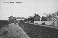 Postcard view of the station at Gargunnock while still open. View looks west.<br><br>[John McLaren Collection&nbsp;//]