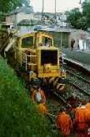 Track maintenance at Bearsden. View looks east towards station.<br><br>[Ewan Crawford&nbsp;//]