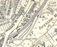 Ordnance Survey map of Hillfoot.<br><br>[Ewan Crawford&nbsp;//]
