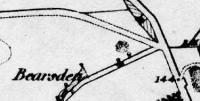 Ordnance Survey map showing location of Bearsden station before construction.<br><br>[Ewan Crawford Collection&nbsp;//]