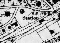 Ordnance Survey map of Bearsden when line was first opened as single track.<br><br>[Ewan Crawford Collection&nbsp;//]