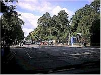 Looking west down Great Western Road. The station building were located on the right by the trees.<br><br>[Ewan Crawford&nbsp;//]