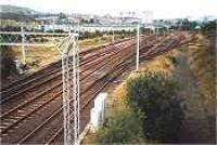 View looking west over the site of Greenock Ladyburn shed.<br><br>[Ewan Crawford&nbsp;//]