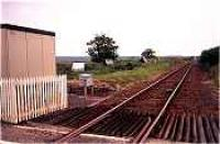 Looking north at the closed Halkirk station.<br><br>[Ewan Crawford&nbsp;//]