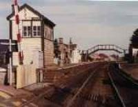 Looking east at Insch station from the level crossing.<br><br>[Ewan Crawford&nbsp;//]