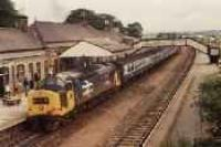 Looking west over a class 37 and passenger train in Inverurie station.<br><br>[Ewan Crawford&nbsp;//]