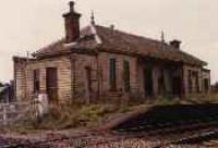 Looking south at the former Kennethmont station building.<br><br>[Ewan Crawford&nbsp;//]