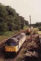 Looking north at Port Elphinstone. Class 47 freight in sidings.<br><br>[Ewan Crawford&nbsp;//]
