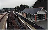 Looking south at Huntly stations new station building.<br><br>[Ewan Crawford&nbsp;//]