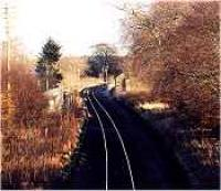 Looking east over the former Pitcaple station and signalbox.<br><br>[Ewan Crawford&nbsp;//]