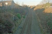 Looking north at the former Stoneywood station.<br><br>[Ewan Crawford&nbsp;//]
