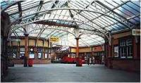 Inside of covered walkway between Wemyss Bay station and pier<br><br>[Ewan Crawford&nbsp;//]