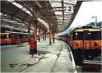 Class 303 trains at Wemyss Bay station.<br><br>[Ewan Crawford&nbsp;//]