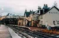Achnasheen station viewed from the east. The hotel building still stands.<br><br>[Ewan Crawford&nbsp;//]