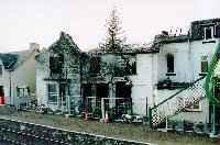 Achnasheen station hotel viewed after the fire, view looks north.<br><br>[Ewan Crawford&nbsp;//]
