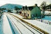 Achnasheen station, view looking west, not long after the hotels demolition.<br><br>[Ewan Crawford&nbsp;//]
