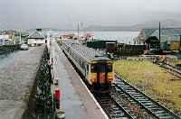 Looking south at a sprinter at Kyle of Lochalsh station.<br><br>[Ewan Crawford&nbsp;//]