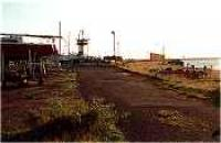 Looking south at the former Ardrossan Montgomerie Pier station.<br><br>[Ewan Crawford&nbsp;//]