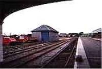 Looking south out of the train shed at Thurso station.<br><br>[Ewan Crawford&nbsp;//]