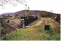The former Lochaber Narrow Gauge Railway crossing over the West Highland Railway at Fort William Junction.<br><br>[Ewan Crawford&nbsp;//]