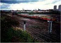 View looking north from Whifflet Upper over Whifflet Canal basin sidings.<br><br>[Ewan Crawford&nbsp;//]