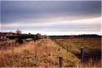 View looking east towards the site of the former Morayshire Brickworks. The line froms from left to right.<br><br>[Ewan Crawford&nbsp;//]