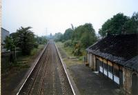 Crookston station viewed from the east.<br><br>[Ewan Crawford //1987]