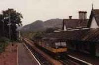 Pair of class 47s running south through Dunkeld station.<br><br>[Ewan Crawford&nbsp;//]
