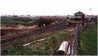 Looking west at Carmuirs West Junction and signalbox.<br><br>[Ewan Crawford&nbsp;//]