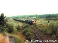 Class 20 shunting a freight train at Alloa Marshalling Yard.<br><br>[Jeffray Wotherspoon&nbsp;/7/1983]