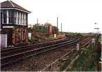 Looking west at Carmuirs East Junction and signalbox.<br><br>[Ewan Crawford&nbsp;//]