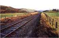 Looking east from the level crossing at the former Acheilidh Crossing.<br><br>[Ewan Crawford&nbsp;//]