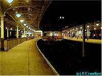 Looking south at Wemyss Bay station at night.<br><br>[Ewan Crawford&nbsp;//]