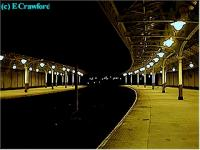 Looking north in Wemyss Bay station at night.<br><br>[Ewan Crawford&nbsp;//]