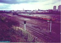 Whifflet Basin sidings viewed from the south.<br><br>[Ewan Crawford&nbsp;//]